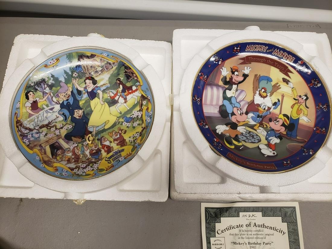 Two vintage Walt Disney plates - Snow White is a