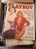 box full of playboy magazines