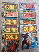 Lot of early Marvel Conan the Barbarian comics