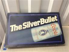 the silver bullet coors light beer light up sign 26x16