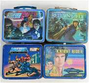 Lot of 4 early metal lunchboxes  Star Wars Return of