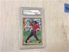 1997 Legends sport graded Tiger woods card