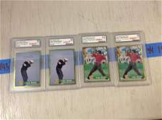 lot of four graded tiger woods cards