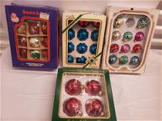 Lot of early Christmas ornaments