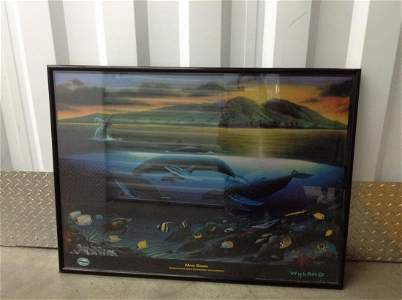 "Large framed poster 37""x 27"""