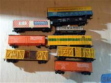 lot of HO train cars