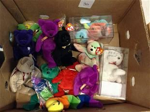 box full of beanie babies