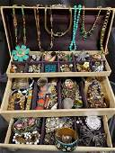Jewelry Box full of vintagecostume jewelry