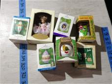 lot of hallmark and other christmas ornaments