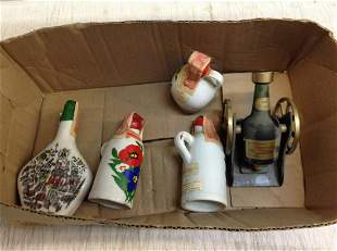 Miniature liquor bottles with tax stamps