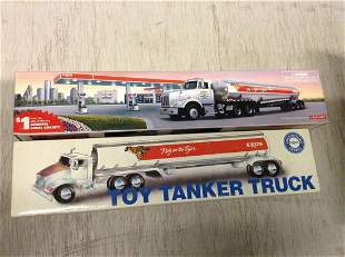Lot of Two Toy Tanker Trucks