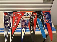 Large lot of various sports pennants