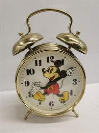 Large Lorus vintage Mickey Mouse alarm clock - approx.