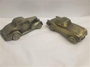Two Metal car banks one marked 1974 Banthrico