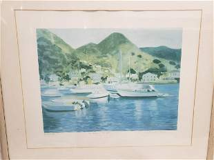 Beautiful watercolor framed artwork - signed and