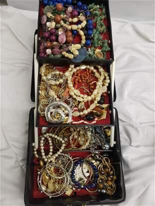 Jewelry box full of vintage/costume jewelry