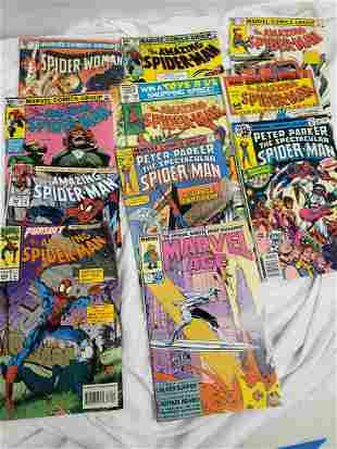 Lot of Spider-Man comics - vintage ones in there!