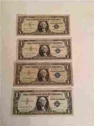 Lot of silver certificates