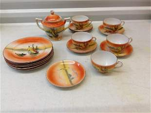 Made in Japan teacups, sugar bowl and more