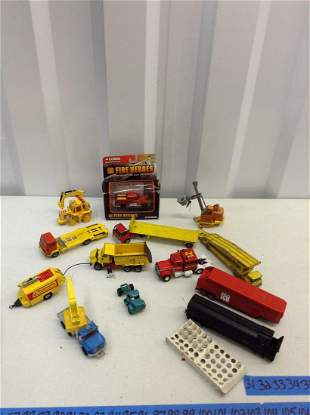 Lot of Corgi and other diecast trucks and more