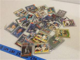 Large amount of vintage baseball cards in cases