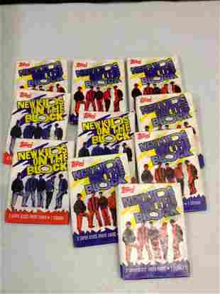 Lot of Topps New Kids on the Block Cards
