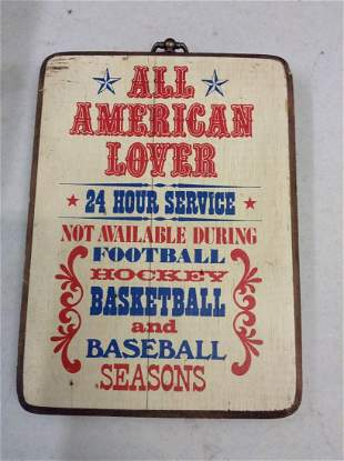 Patriotic Sports Wooden Sign