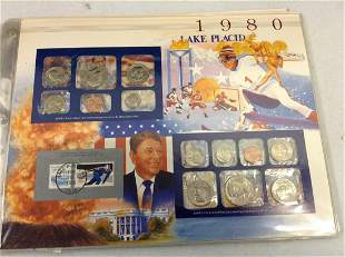 1980 Winter Olympic Games Coin and Stamp Proof Set