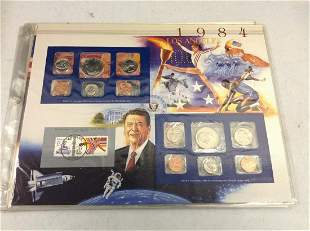 1984 Summer Olympic Games Coin and Stamp Proof Set