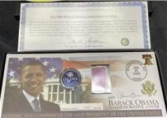 2009 President Barack Obama coin and first da cover set