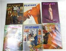 Lot of 6 Playboy Magazines from 1972  and 1973