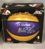 Magic Johnson signed basketball - no coa