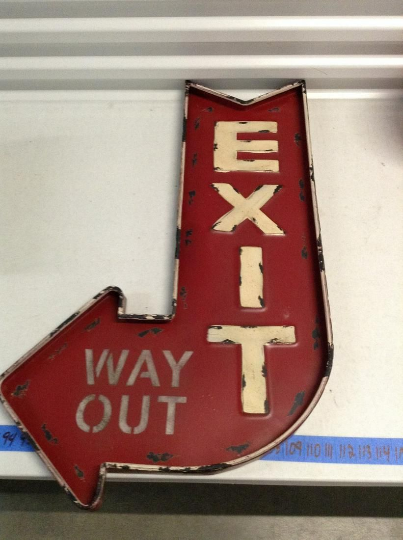 """Metal Exit sign 30"""" tall"""