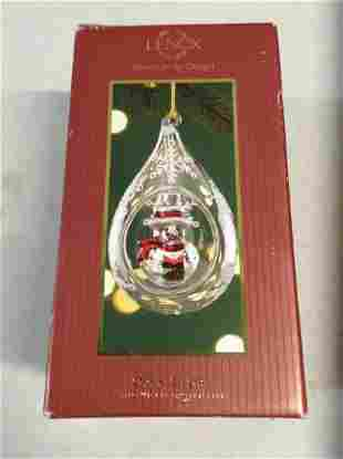 Lenox American by Design Open Globe Snowman Ornament in