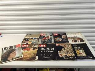 Large amount of 1960s Life and other magazines