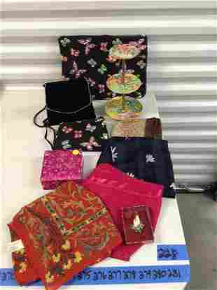 Vintage scarves, purses and more