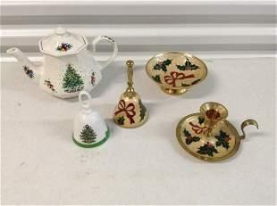 Sadler teapot, Made in Japan bell and brass enamel