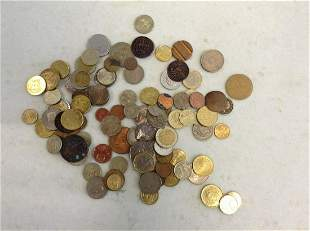 Large lot of vintage foreign coins