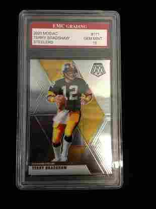 Graded Terry Bradshaw Card