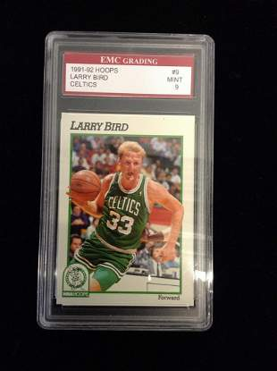 Graded Larry Bird Card