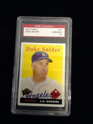Graded Duke Snider Card