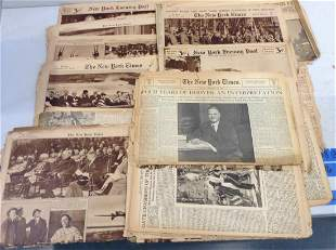 Large Amount of 1930s New York Times and Other