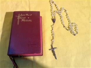 Prayer Book and Rosary Beads