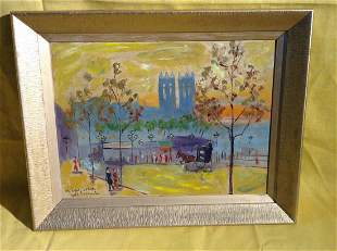 French Oil Painting Signed