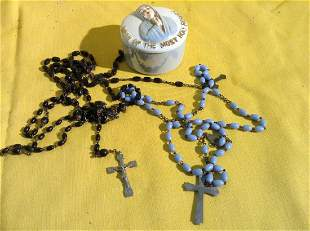 Rosary Box and Rosaries