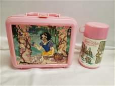 Aladdin Snow White lunch box with thermos - Walt Disney