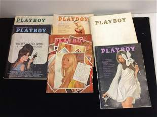 Lot of 1960's Playboy Magazines