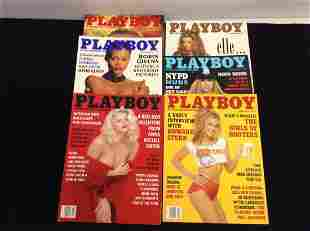 Lot of 1994 Playboy Magazines