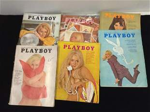 Lot of 1969 Playboy Magazines