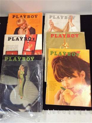 Lot of 1966 Playboy Magazines